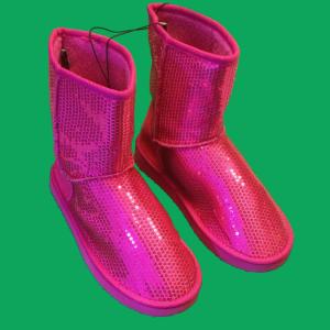 rue21 Pink Glitter Sequin Boots