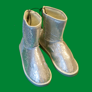 rue21 Silver Glitter Sequin Boots