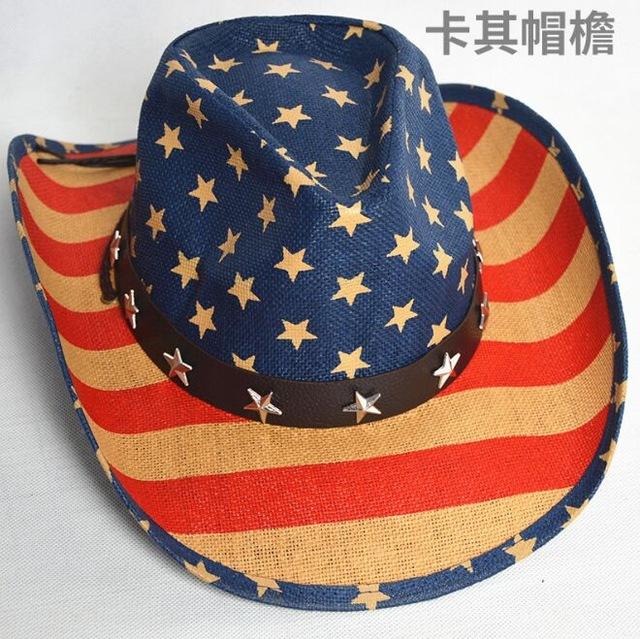 Classic Western American Flag Western Hat – KIFFSALES.COM 7703ff74cf3